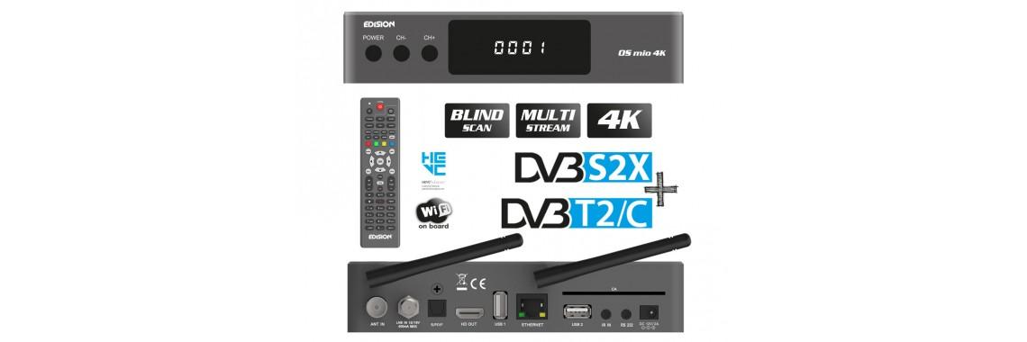 EDISION OS MIO 4K H265/HEVC DVB-S2X + T2/C