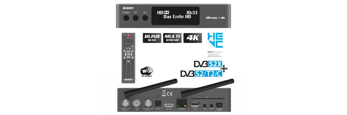 EDISION OS MIO+ 4K H265/HEVC DVB-S2X + T2/C