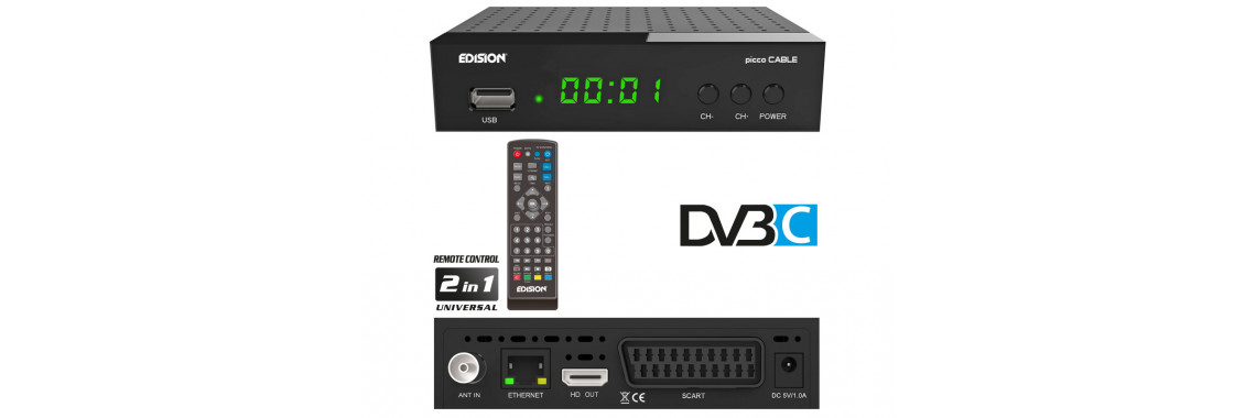 PICCO cable DVB-C H.264, SCART, HDMI, Youtube, WIFI support